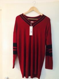 Brand new burgundy jumper for sale