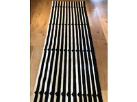 Made Vico Stripe Wool Runner 200cm x 66cm New, Black & White, Postage available.