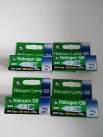 4 Halogen G9 Lamps