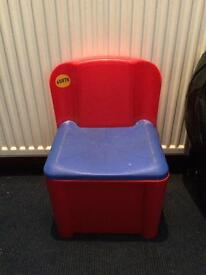 Toy storage chairs for toddler or pre schooler