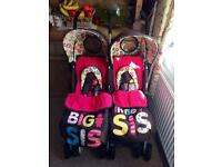 ❤GORGEOUS COSATTO BIG SIS LITTLE SIS DOUBLE BUGGY / TWIN PUSHCHAIR ❤