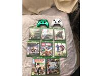 Xbox one s. 500gb with games