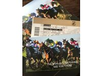 2 Grand National Tickets (Saturday) with Race Card Vouchers