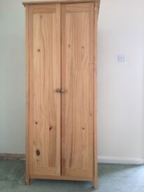 Pine furniture, comprising single wardrobe, 5 drawer chest and 1 bedside cabinet