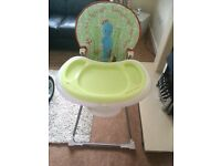 Iggle piggle high chair