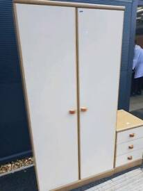 Cream Melamine wardrobe + delivery
