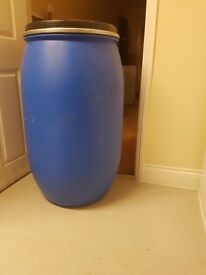 Blue Plastic Barrels ,ideal for Shipping or Storage