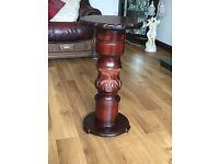 Round Pedestal Telephone/Lamp table