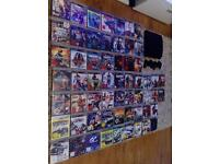PS3 Slim 320GB,used,excellent condition,without box+2 pads+59 games !!!