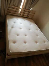Ikea king bed frame and mattress