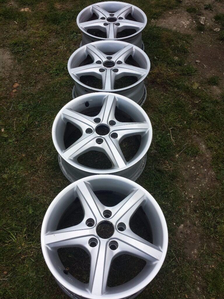Newly Painted VW Passat T2 T4 Audi alloy wheels 5x112 R15