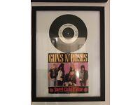 Guns n Roses Axl Rose Mermoribilia (framed) including signed Axl rose pic and App for destruction LP