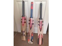Gray Nicolls Junior Cricket Bats - Brand New, x 3