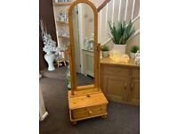 DUCAL solid pine cheval mirror