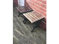 Wrought Iron and Wood Garden Furniture