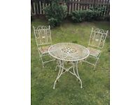 French style wrought iron garden bistro set (table and 2 chairs) by Laura Ashley. £75