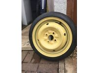 Toyota Yaris space saver spare wheel with jack and handle unused