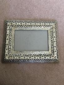 Silver Moroccan (4x6) picture frames x8 wedding