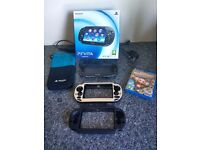 Playstation Vita with 32gb memory card , case and Monkey Ball game - Boxed