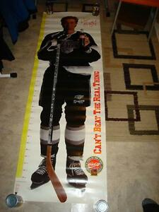 RARE 1990's WAYNE GRETZKY COCA COLA GROWTH CHART POSTER