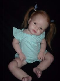 """Reborn doll, toddler 26"""" tall Kitten by Donna Rubert, reborned by me, human hair, dummy."""
