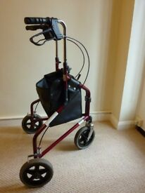 Tri-Wheel Walker with bag - Red (Second hand)