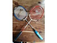 2 Badminton racquets