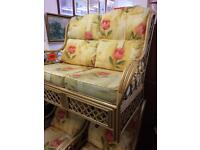 Wicker sofa and chairs.