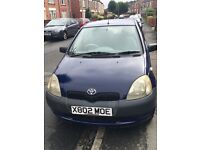 Cheap little toyota yaris with mot till next year