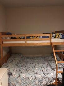 Bunk beds & mattresses basically brand new