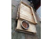 Rustic crate dog bed