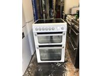 Hotpoint ceramic electric cooker 60 cm white