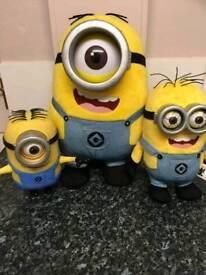 Set of plush minions