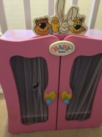 Baby born- genuine wooden wardrobe