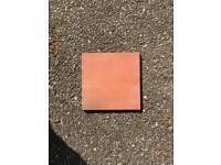 Unglazed quarry tiles 15cm x 15cm