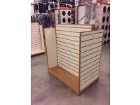 Slatwall Gondola Display Unit Cream white