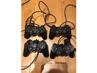 PlayStation 2 Controllers x 4