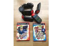 PlayStation 2 buzz games and controllers. ps2