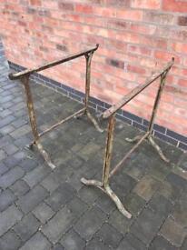 19th century wrought iron trestles