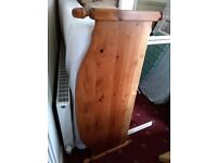 Divan bed, no draws, comfortable mattress, old but with nice pine head board