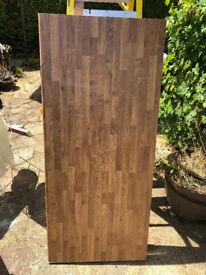 Oak laminate Worktop offcut 1300x600x38mm, Selco - Colmar Oak Worktop