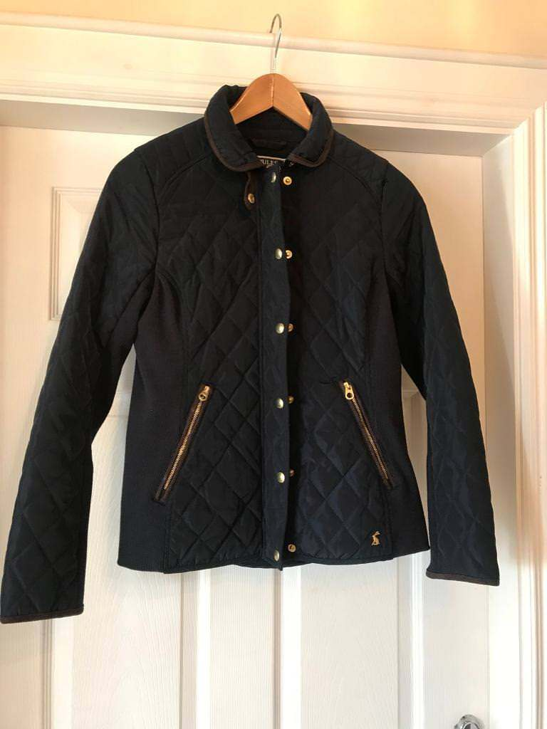 Ladies Joules Navy Quilted Jacketze 10 In Moira County