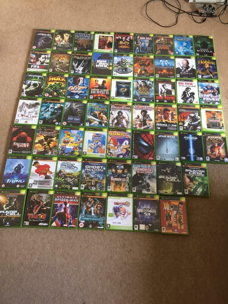 60 Xbox Original Games Plus Console In Market Harborough