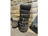 Part worn tyres and new