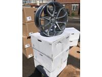 "4 19"" alloy wheels alloys rims tyre tyres vw Volkswagen seat Skoda audi 5x112"