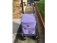 Lilac Sholley deluxe shopping trolley with brakes