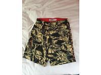 Speedo swim shorts grey and yellow