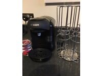 BOSCH TASSIMO COFFEE MACHINE AND POD HOLDER - EXCELLENT CONDITION