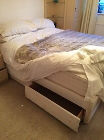 Double bed with drawers under selling due to removal must be gone by Thursday