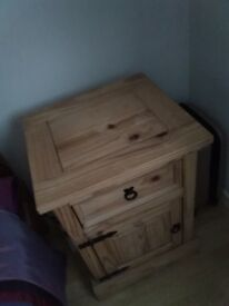 Pine bedside cabinet. In really good condition. Could be useful in any instance.